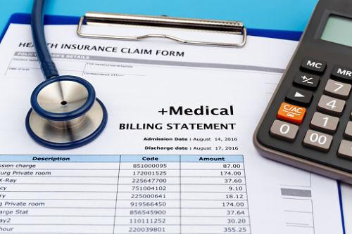 Medical bills and calculator