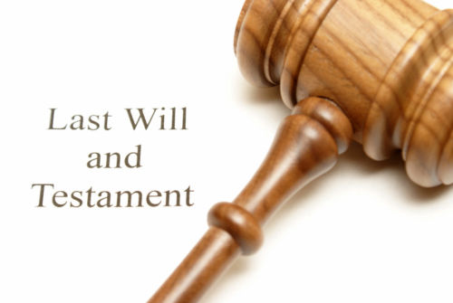 Last Will and Testament with Gavel
