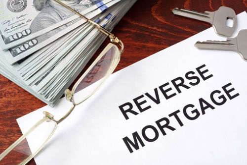 Reverse Mortgage paper on table