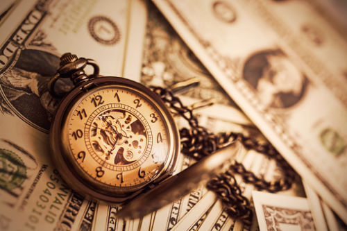 Pocket Watch on Dollars