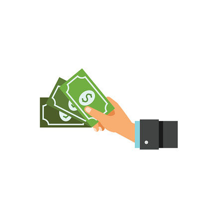 Illustration of Hand with Money - Fees in an Ohio Guardianship