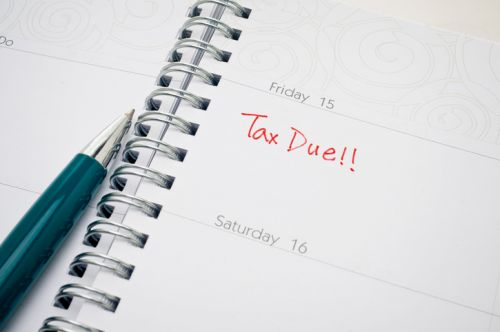 Calendar Listing Estate Tax Due