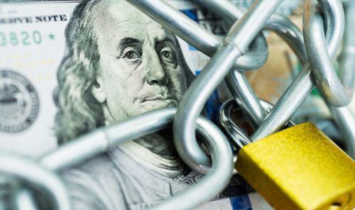 Padlocked Money $100 Bill - Symbol of Spendthrift Trust