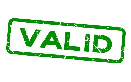 VALID Stamp - Symbol of No Contest Clause