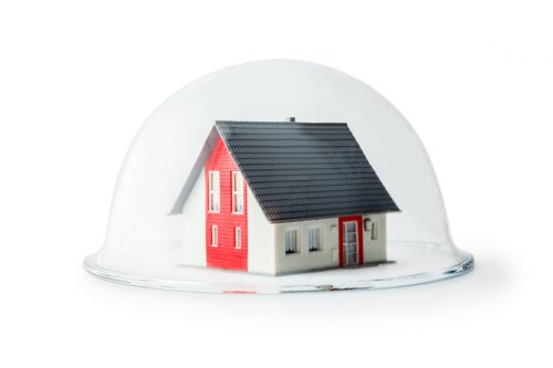 Model House Under Glass - Symbol of Protecting Your Home