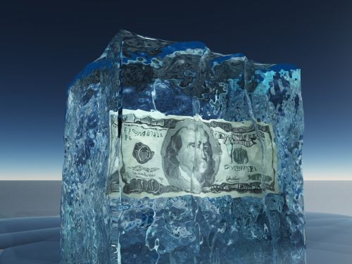 $100 bill in ice cube - trust cannot be changed