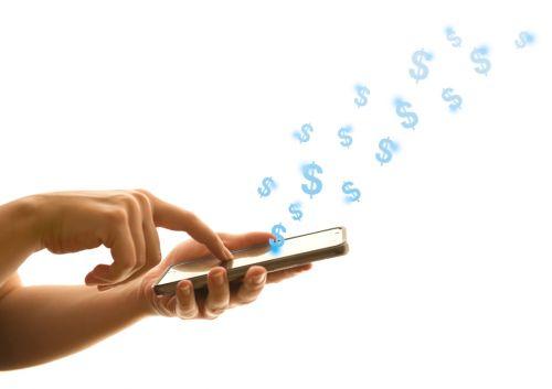 Sending money through cell phone